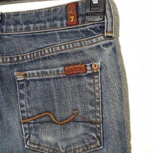 7FAM | flare blue jeans sz 25